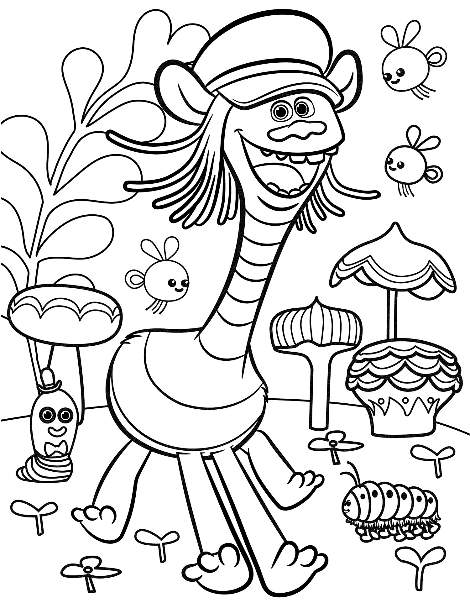 Troll Printable Coloring Pages  Trolls Movie Coloring Pages Best Coloring Pages For Kids