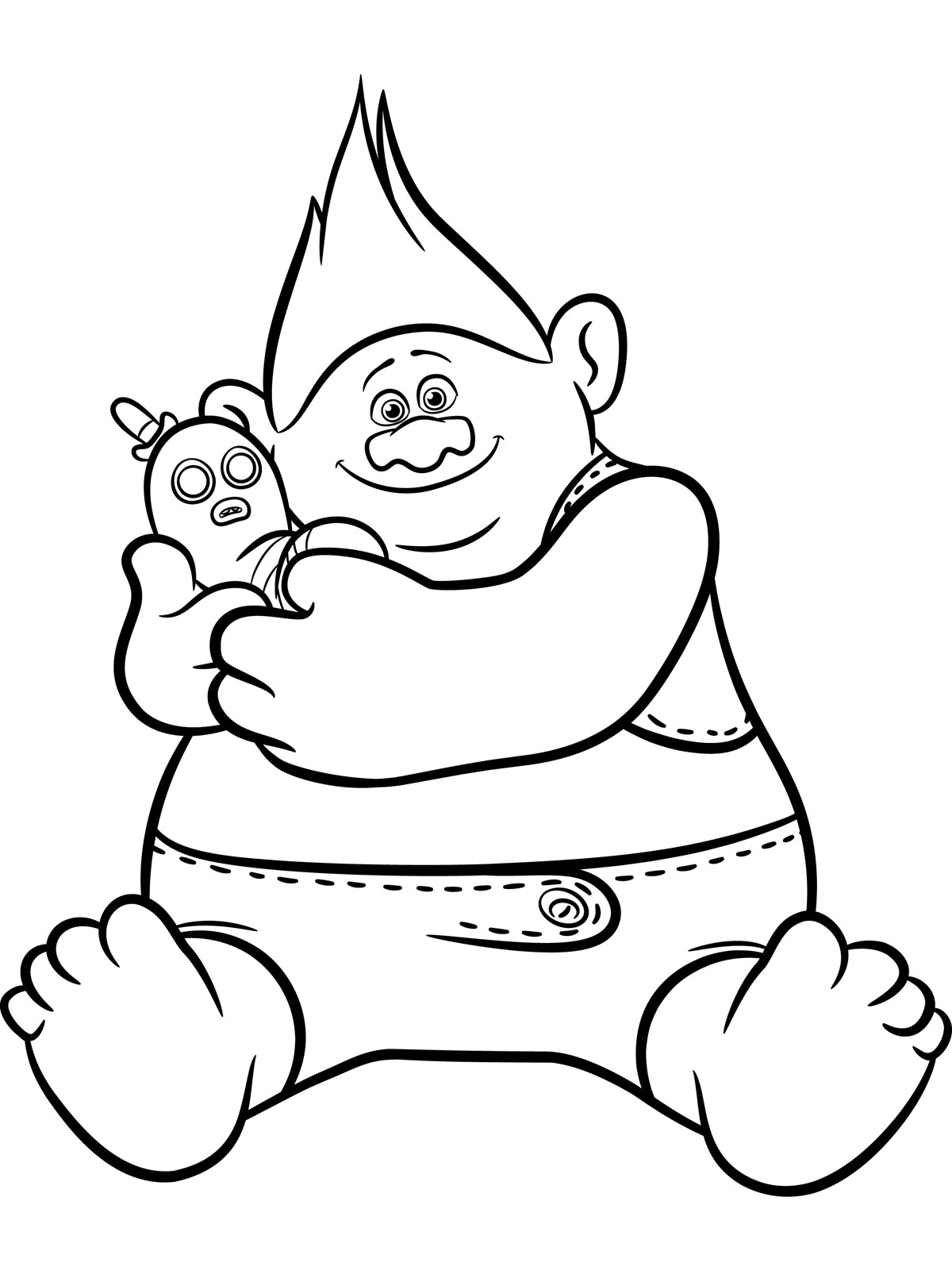 Trolls Coloring Sheet  Trolls Coloring pages to and print for free