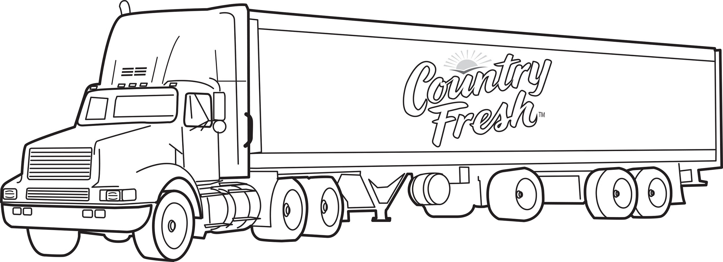 Trucks Coloring Pages For Kids  of Big Trucks for Kids