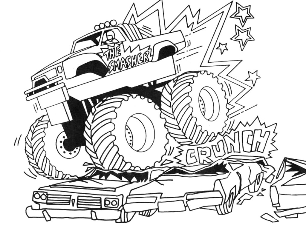 Trucks Coloring Pages For Kids  Free Printable Monster Truck Coloring Pages For Kids