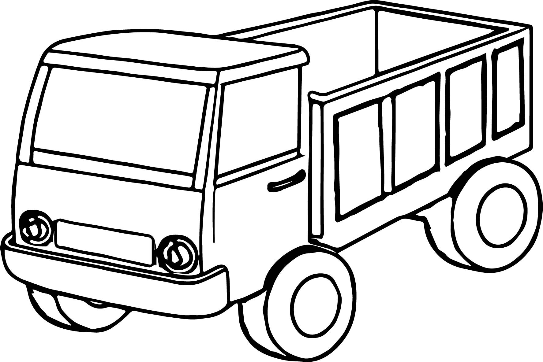 Trucks Coloring Pages For Kids  Kids Truck Coloring Page