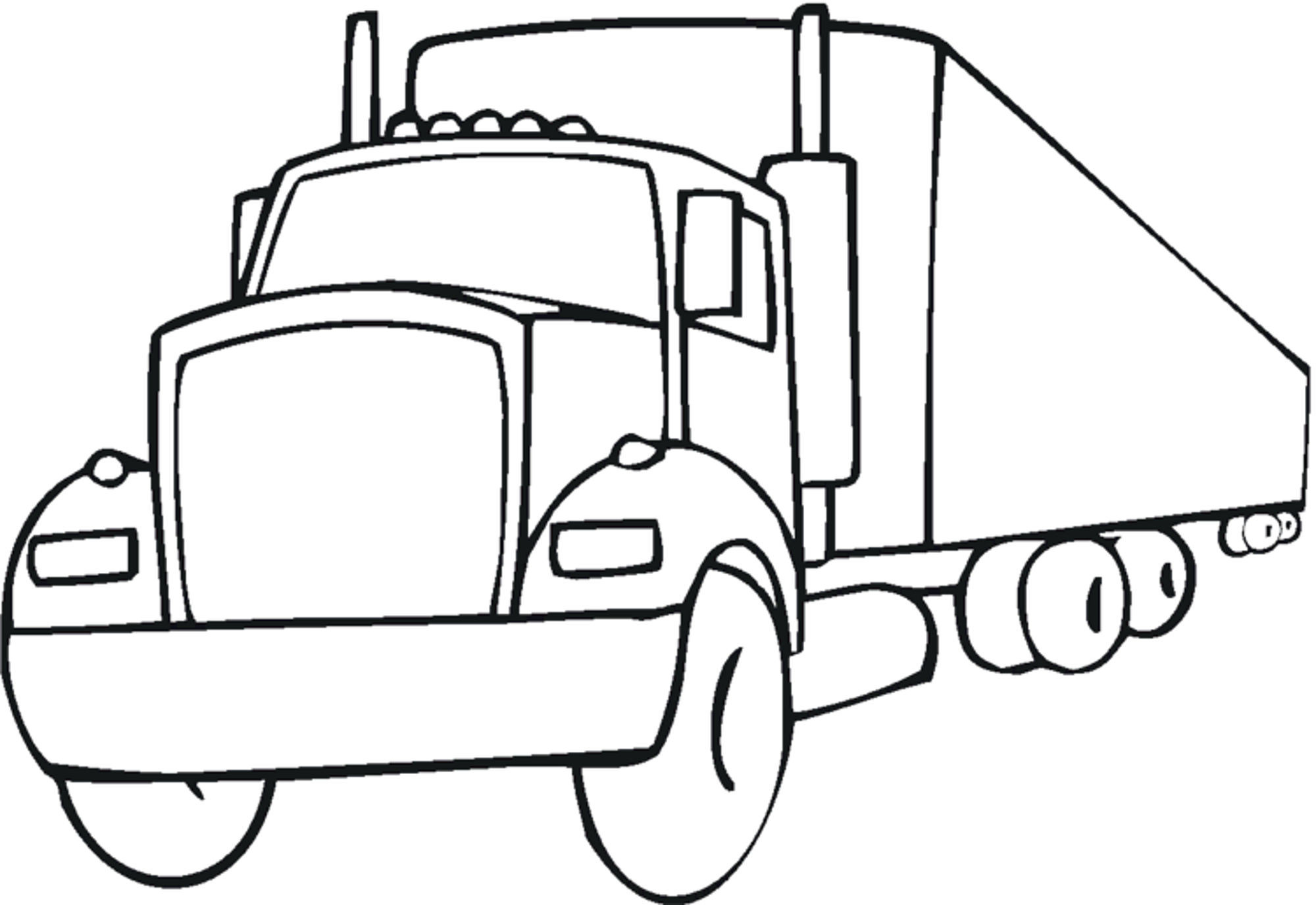Trucks Coloring Pages For Kids  Print & Download Educational Fire Truck Coloring Pages