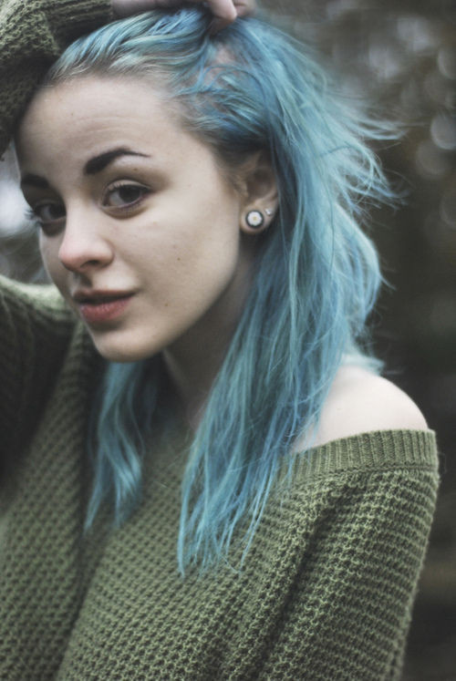 Best ideas about Tumblr Girls Hairstyle . Save or Pin cabelo azul on Tumblr Now.