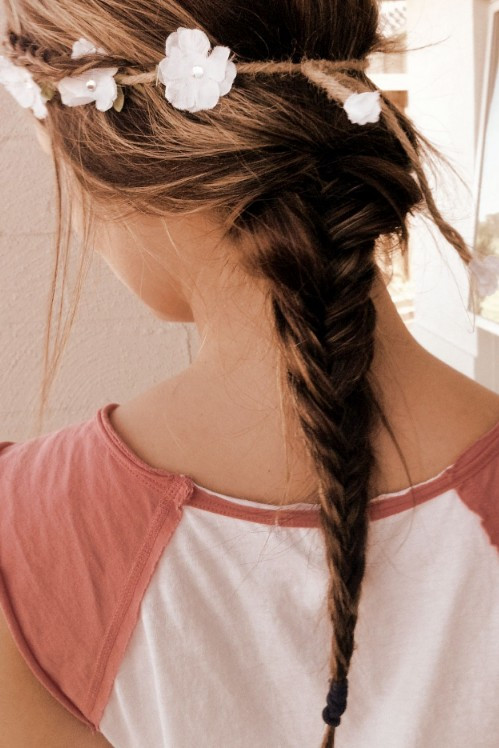 Best ideas about Tumblr Girls Hairstyle . Save or Pin Loose Ponytail Romantic 2 Strand Braid Hairstyle for Now.