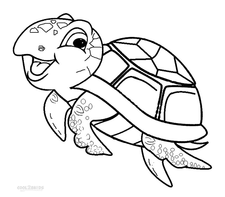 Turtle Coloring Book  Printable Sea Turtle Coloring Pages For Kids
