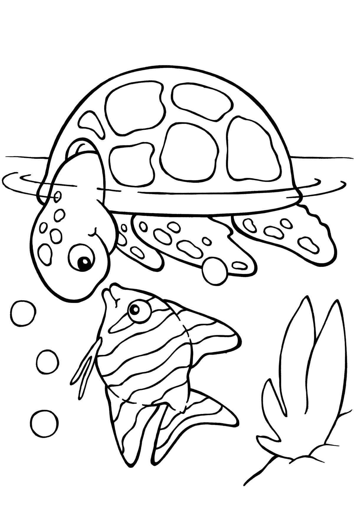 Turtle Coloring Book  Free Coloring Pages Sea World 6673 Bestofcoloring