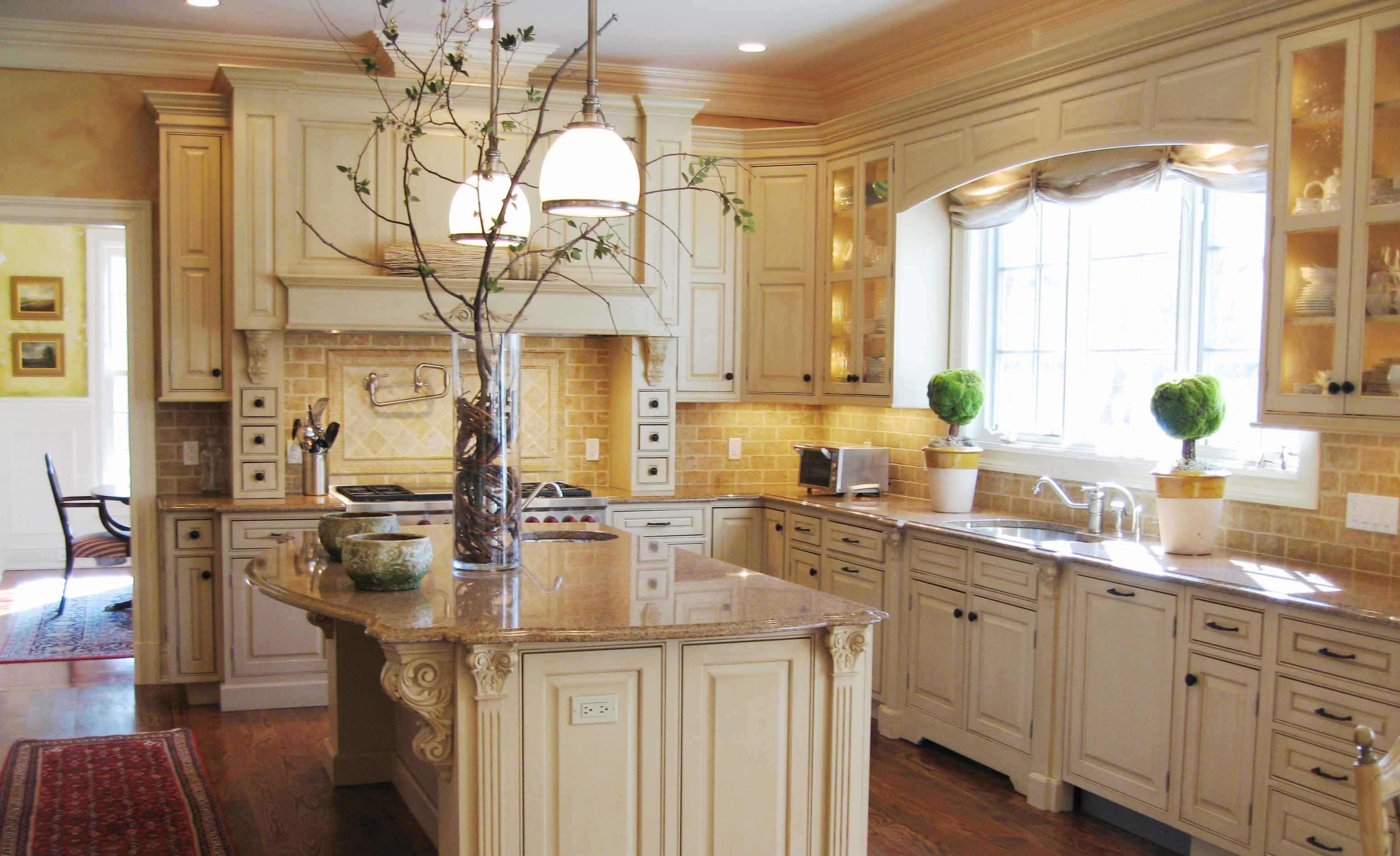 Best ideas about Tuscany Kitchen Decor . Save or Pin Tuscan Style Kitchen Cabinet with White and Wooden Tone Now.