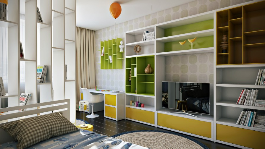 Best ideas about Tv For Kids Room . Save or Pin Crisp and Colorful Kids Room Designs Now.