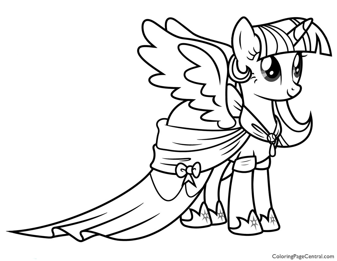 Twilight Coloring Sheets For Girls  my little pony coloring pages princess twilight sparkle