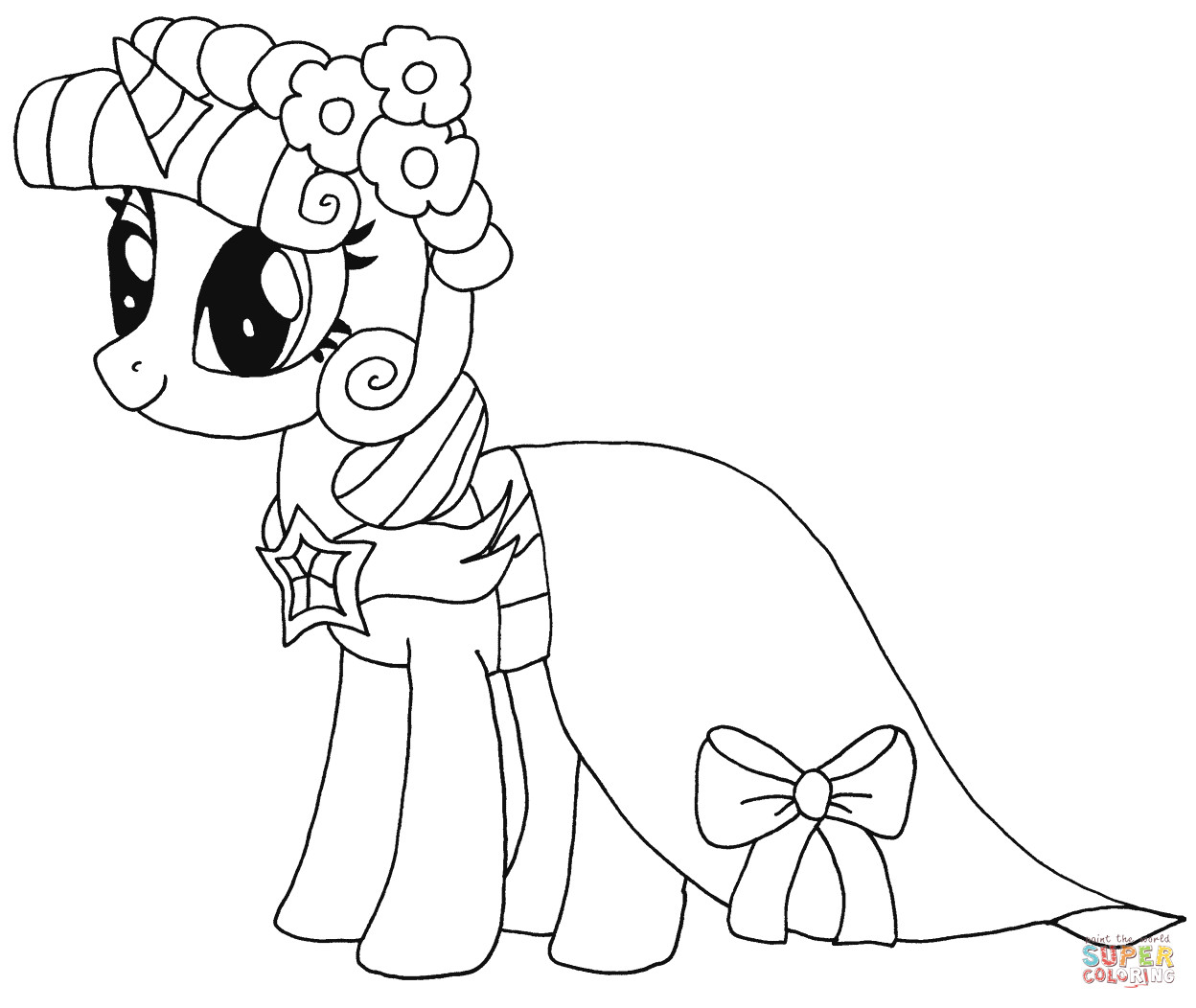 Twilight Coloring Sheets For Girls  Princess Twilight Sparkle coloring page