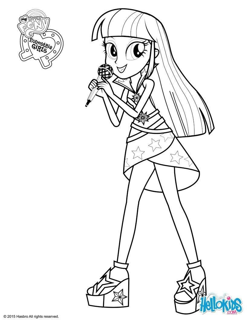 Twilight Coloring Sheets For Girls  Twilight Sparkle coloring page