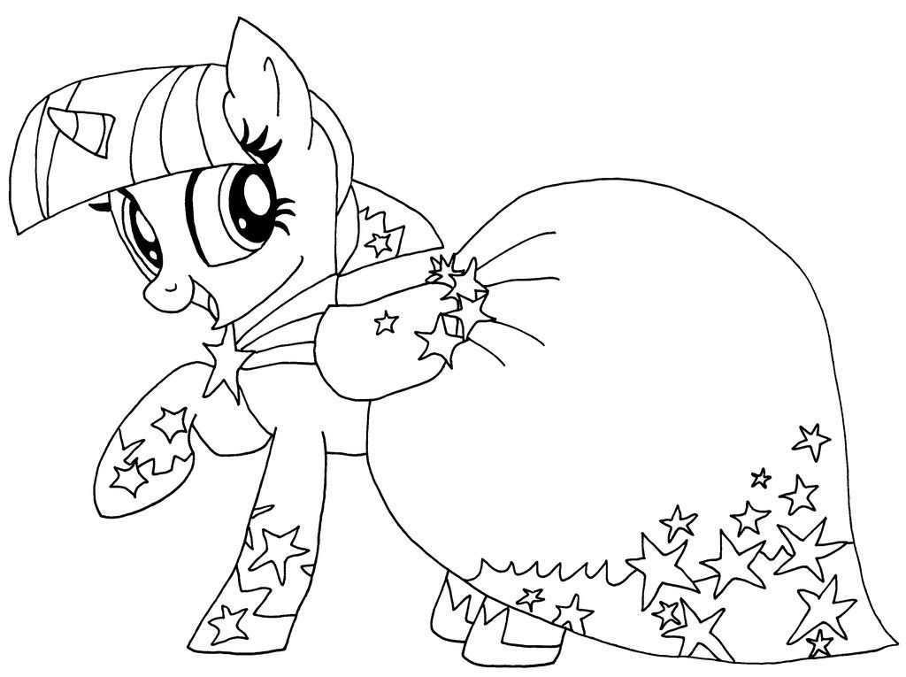 Twilight Coloring Sheets For Girls  My Little Pony Coloring Pages Twilight Sparkle Alicorn