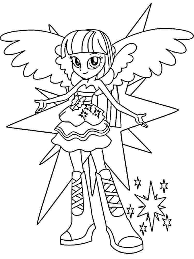 Twilight Coloring Sheets For Girls  My Little Pony Equestria Girls Coloring Pages