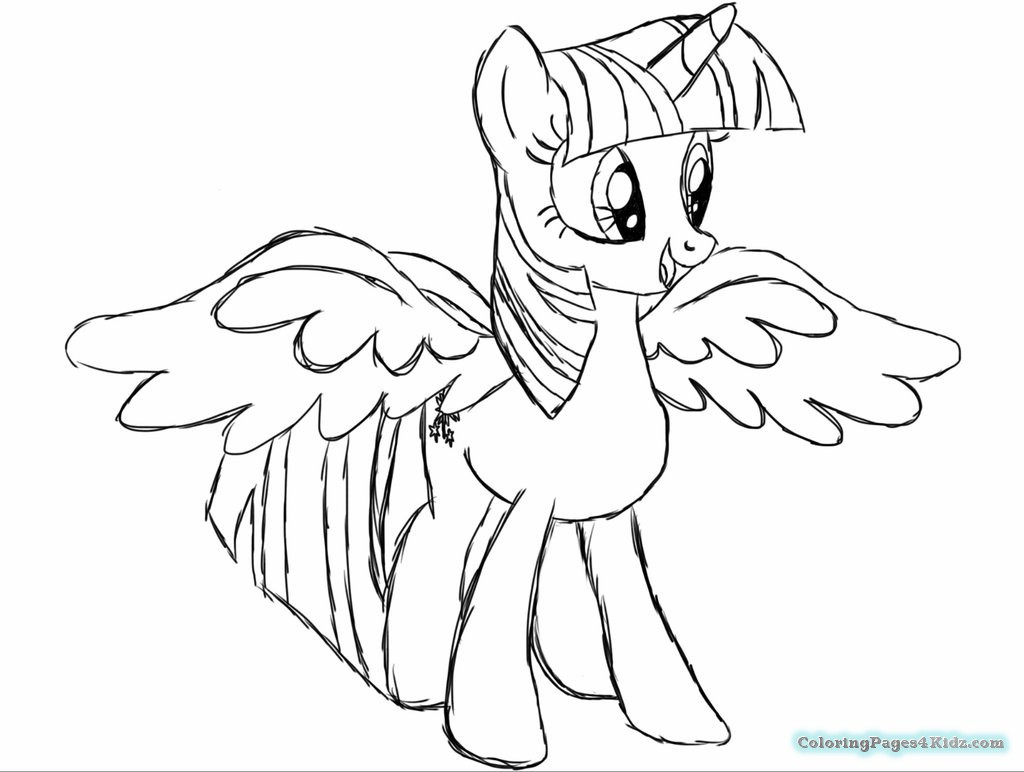 Twilight Coloring Sheets For Girls  My Little Pony Twilight Sparkle And Flash Sentry Coloring