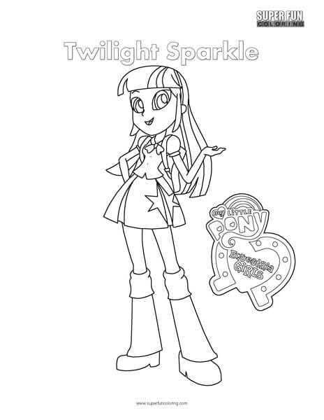 Twilight Coloring Sheets For Girls  Equestria Girls Twilight Sparkle Coloring Page Super