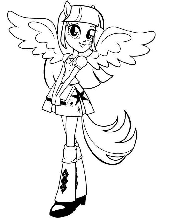 Twilight Coloring Sheets For Girls  30 Equestria Girls Coloring Pages ColoringStar