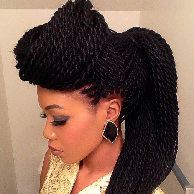 Twist Braids Hairstyles  Spectacular Senegalese Twist Hairstyles