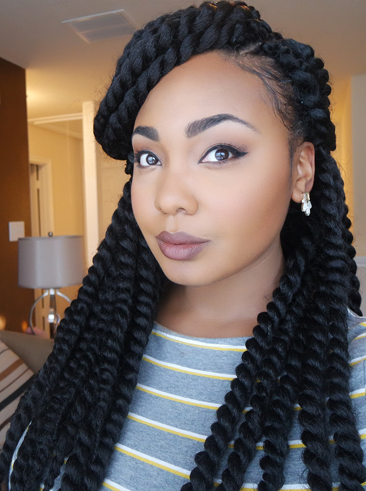 Twist Braids Hairstyles  How To Easy Braid Pattern For Natural & Versatile Crochet