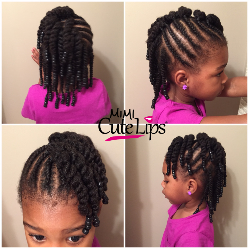 Twisted Hairstyles For Girls  Natural Hairstyles for Kids MimiCuteLips