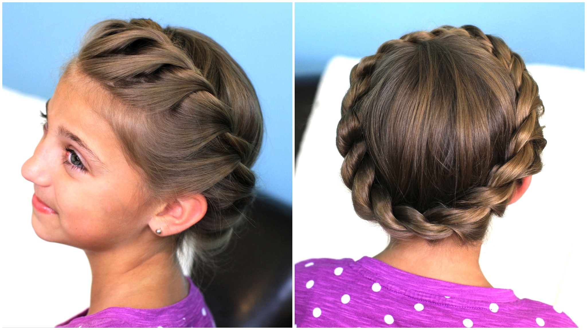 Twisted Hairstyles For Girls  Crown Rope Twist Braid Updo Hairstyles