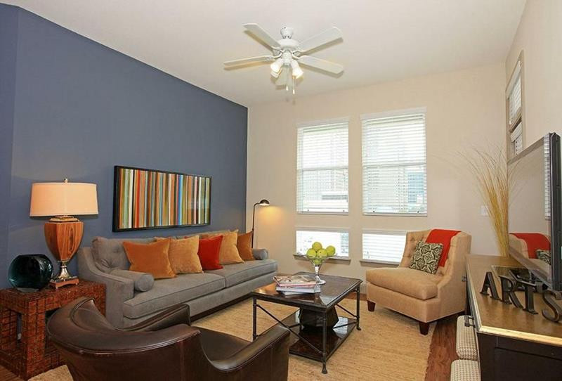 Best ideas about Two Accent Walls . Save or Pin 15 Living Rooms with Eye Popping Accent Walls Now.