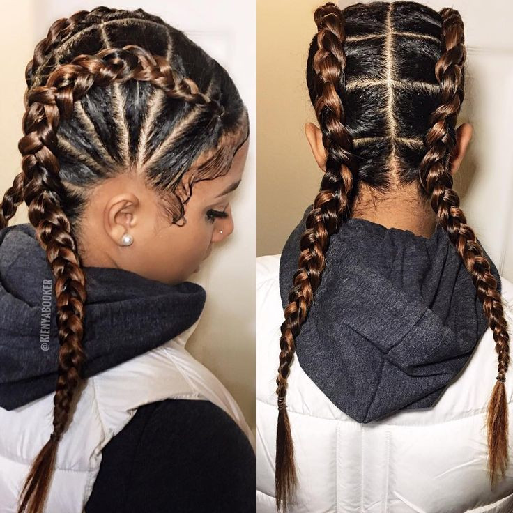 Two Braided Hairstyles  Best 25 2 cornrow braids ideas on Pinterest