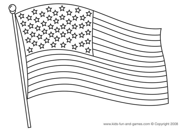 U.S.Flag Coloring Pages  Printable American Flag Black And White UMA Printable