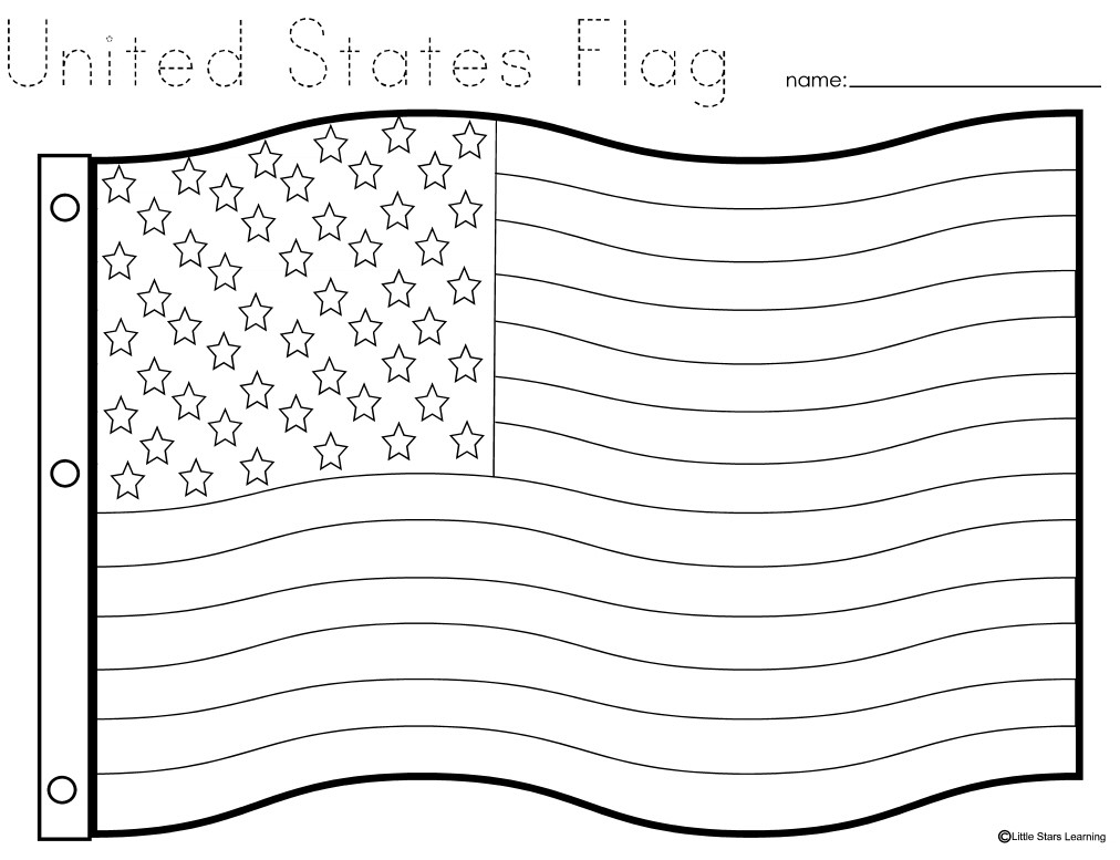U.S.Flag Coloring Pages  Little Stars Learning Flag Day w printables
