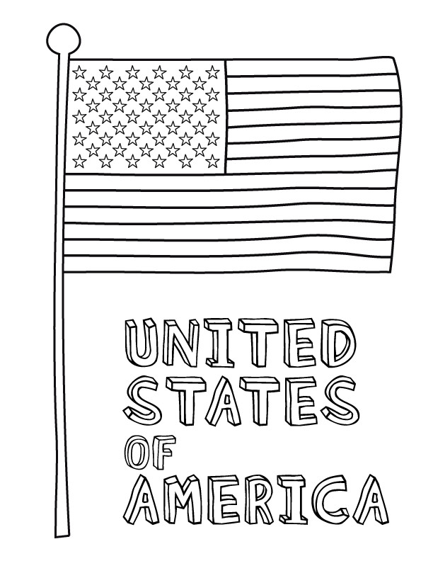 U.S.Flag Coloring Pages  American Flag Coloring Pages Best Coloring Pages For Kids