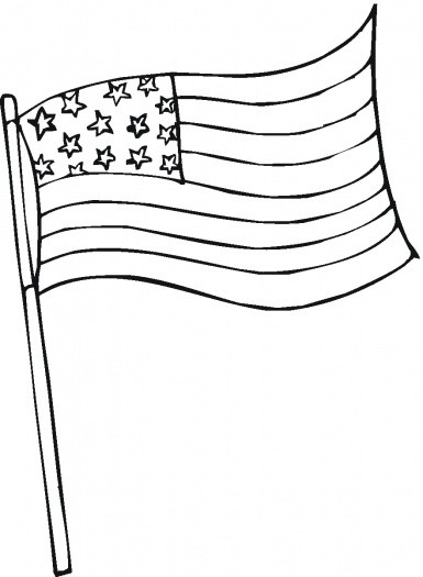 U.S.Flag Coloring Pages  Flag Pole Coloring Page United States grig3