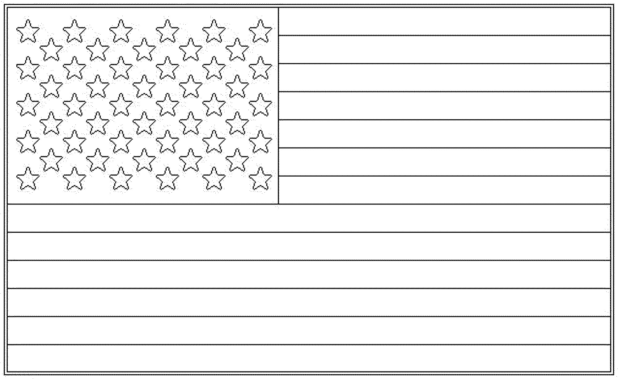 U.S.Flag Coloring Pages  Full Page American Flag Printable Printable 360 Degree