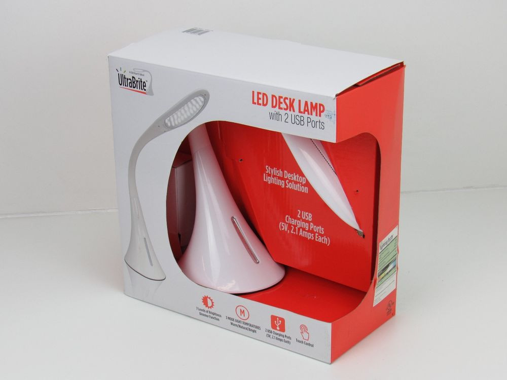 Best ideas about Ultrabrite Led Desk Lamp . Save or Pin UltraBrite LED Desk Lamp W USB Charging Ports Levels Now.