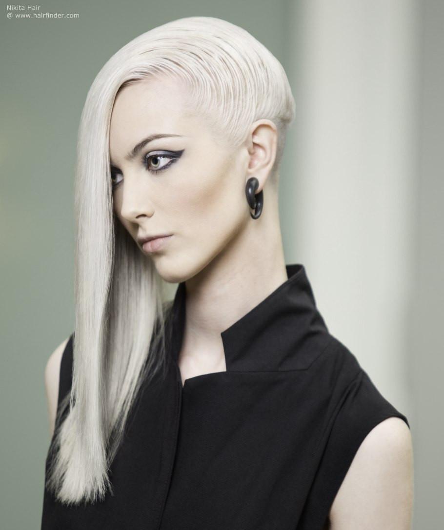 Undercut Hairstyle Female Long Hair  Eccentric long hair with an undercut