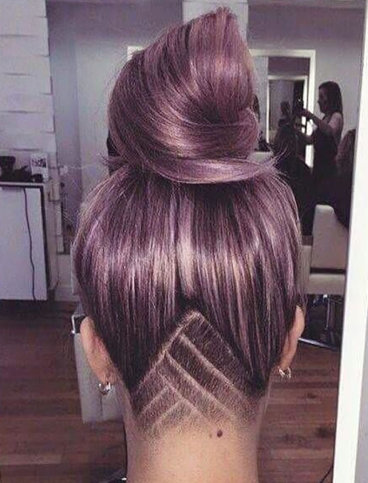 Undercut Hairstyle Female Long Hair  Undercut Hairstyle Ideas with Shapes for Women's Hair in