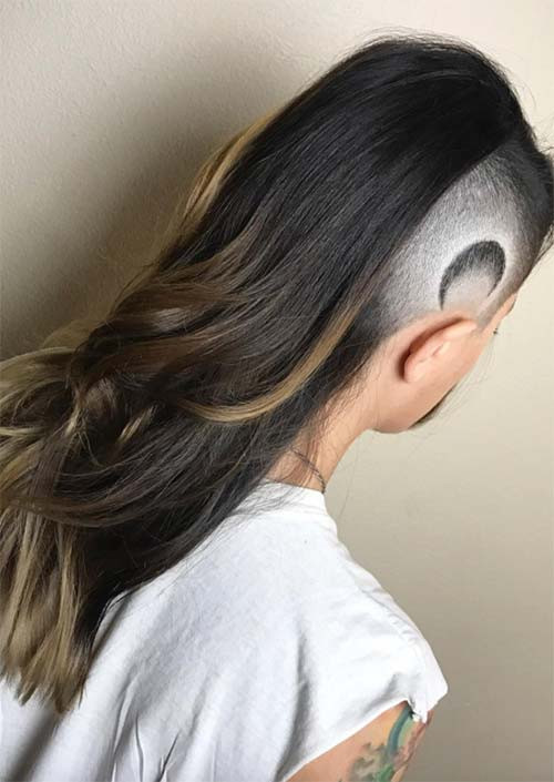Undercut Hairstyle Female Long Hair  51 Long Undercut Hairstyles for Women In 2019 DIY