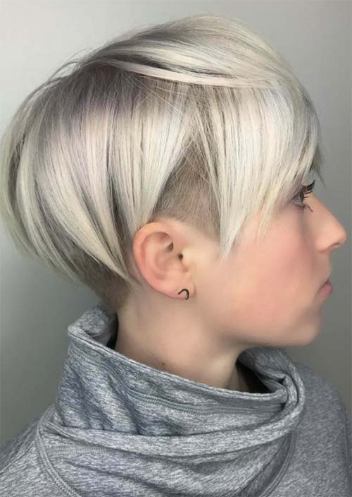 Undercut Hairstyle For Short Hair  51 Edgy and Rad Short Undercut Hairstyles for Women Glowsly