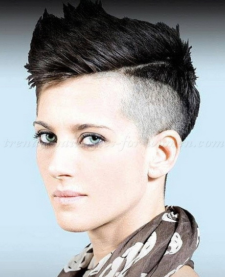 Undercut Hairstyle For Short Hair  Short shaved hairstyles for women