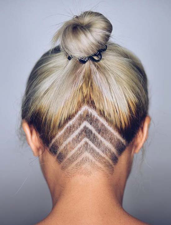Undercut Hairstyle Girls  45 Undercut Hairstyles with Hair Tattoos for Women