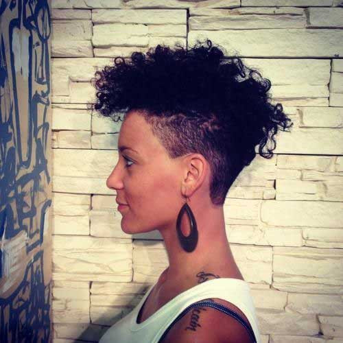 Undercut Hairstyles For Black Women  15 New Short Curly Haircuts for Black Women