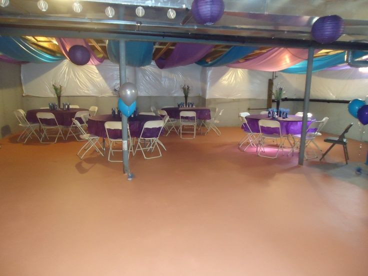 Best ideas about Unfinished Basement Decorating Ideas . Save or Pin how to decorate an unfinished basement for a party Now.