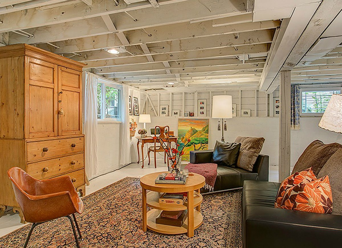 Best ideas about Unfinished Basement Decorating Ideas . Save or Pin fixing up a basement on a bud Now.