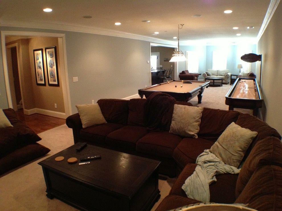 Best ideas about Unfinished Basement Decorating Ideas . Save or Pin Unfinished Basement Ideas for a Traditional Basement with Now.
