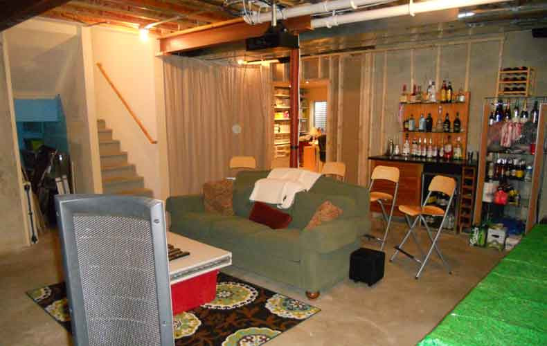 Best ideas about Unfinished Basement Ideas On A Budget . Save or Pin low bud unfinished basement ideas Unfinished Basement Now.
