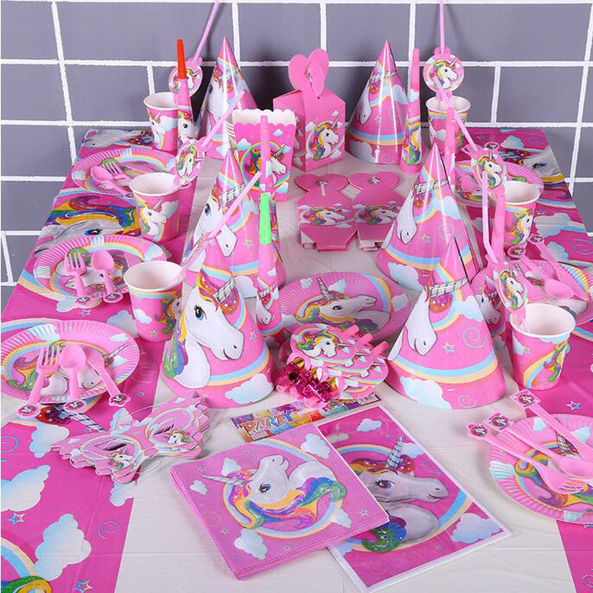 Best ideas about Unicorn Birthday Decorations . Save or Pin Baby Kids Unicorn Theme Birthday Party Decor Supplies Now.