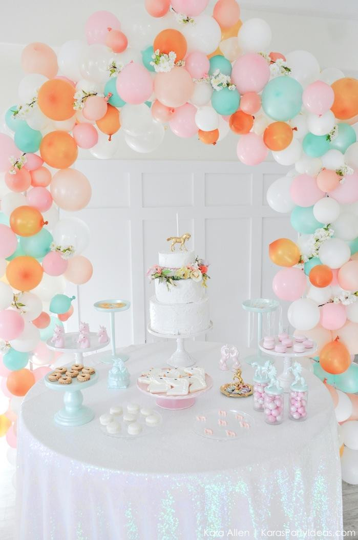 Best ideas about Unicorn Birthday Decorations . Save or Pin Kara s Party Ideas Dreamy Unicorn Birthday Party Now.