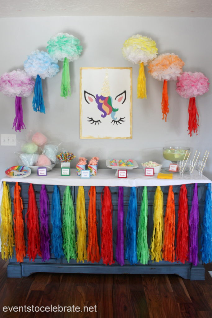 Best ideas about Unicorn Birthday Decorations . Save or Pin Unicorn Party Decorations and Food events to CELEBRATE Now.