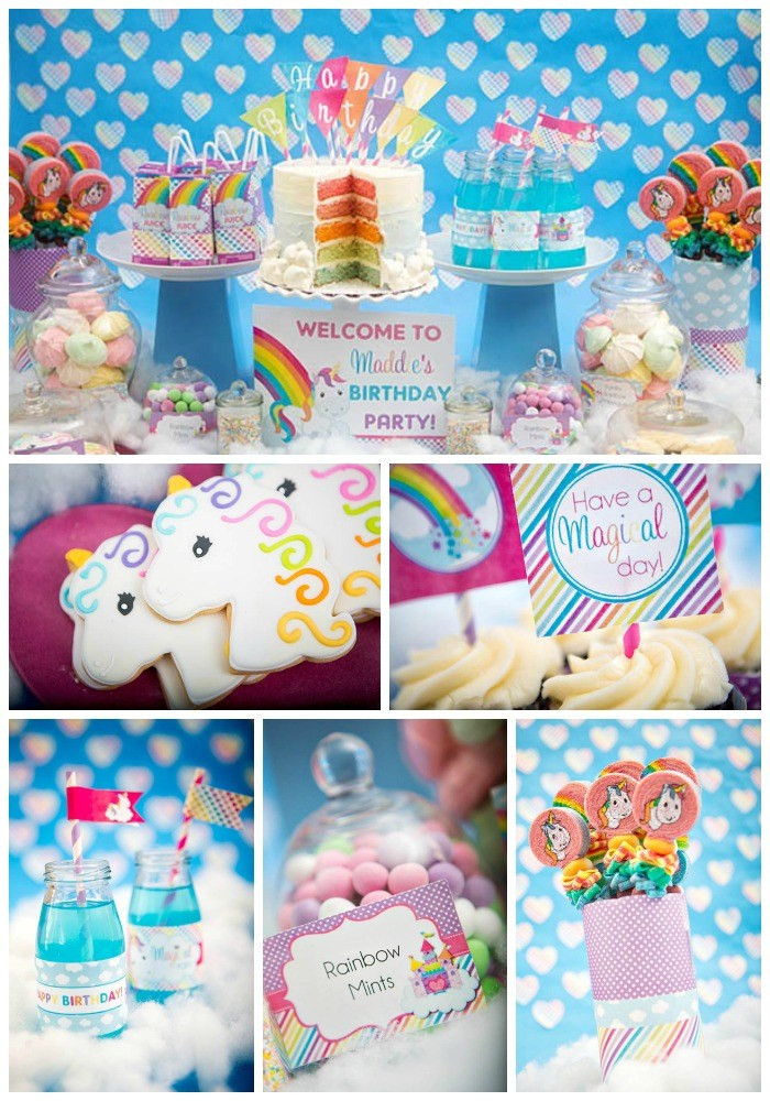 Best ideas about Unicorn Birthday Decorations . Save or Pin Rainbow Unicorn Party B Lovely Events Now.