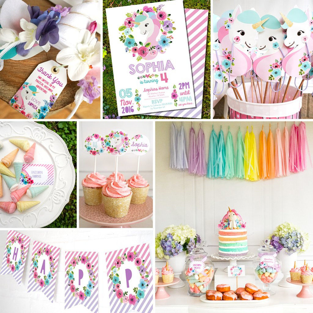 Best ideas about Unicorn Birthday Decorations . Save or Pin Unicorn Birthday Party Decorations Now.