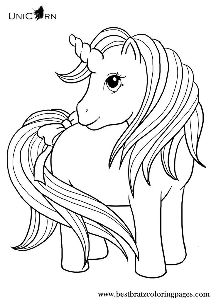 Unicorn Coloring Pages For Girls  17 bästa idéer om Enhörningar på Pinterest