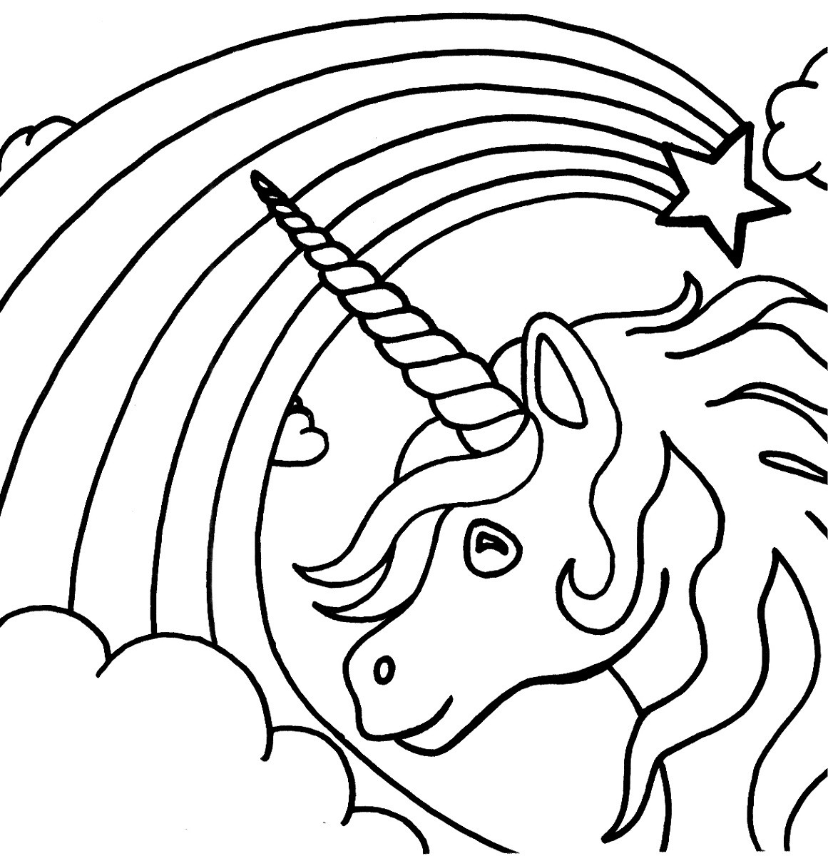 Unicorn Coloring Pages For Girls  Unicorn Color Pages for Kids